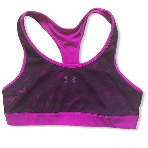 UNDER ARMOUR Purple Sports Bra with Black Lace